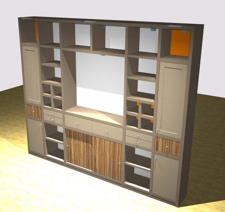 Comfort Kasten Ook voor uw wandmeubel, boekenkast, wandkast, woonkamer ...
